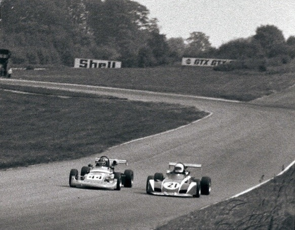 Elden Formula 3 Mk 12 driven by Ted Wentz at Brands Hatch in 1973.